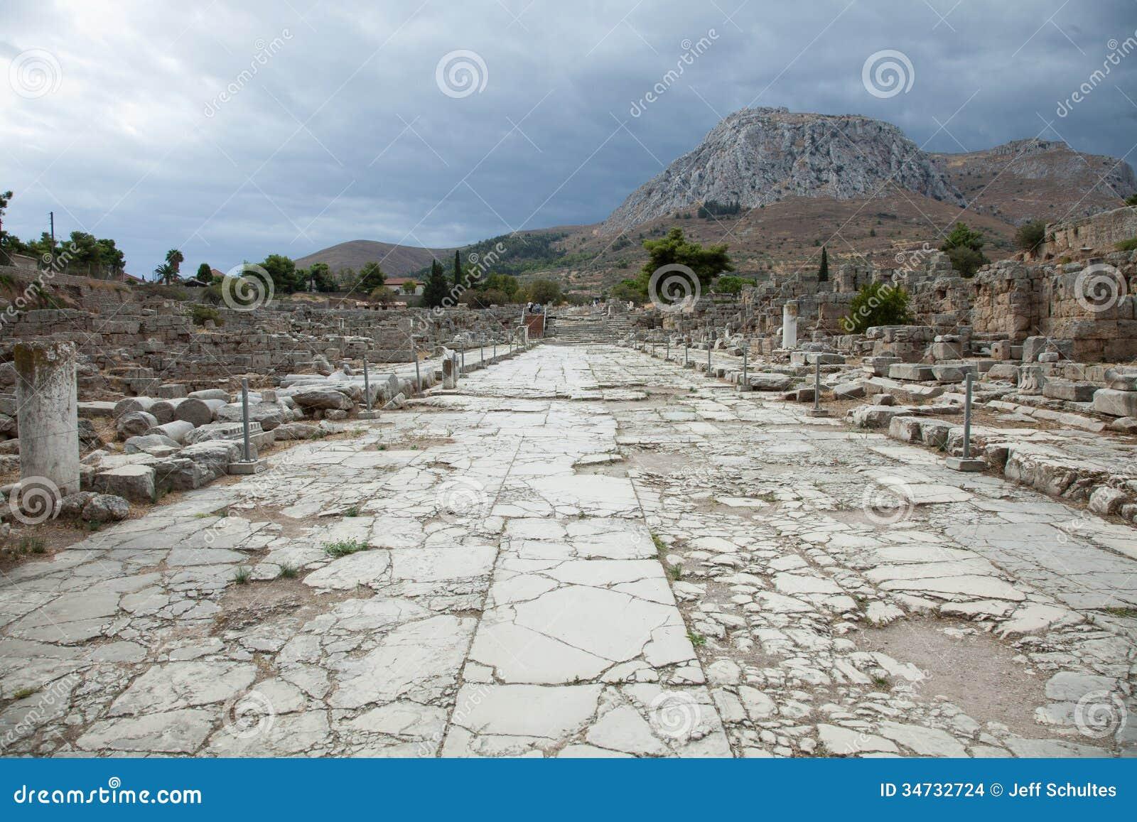 Lechaion Road Stock Images - Image: 34732724