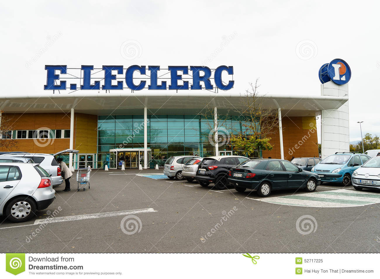 Leclerc hypermarket editorial image  Image of building