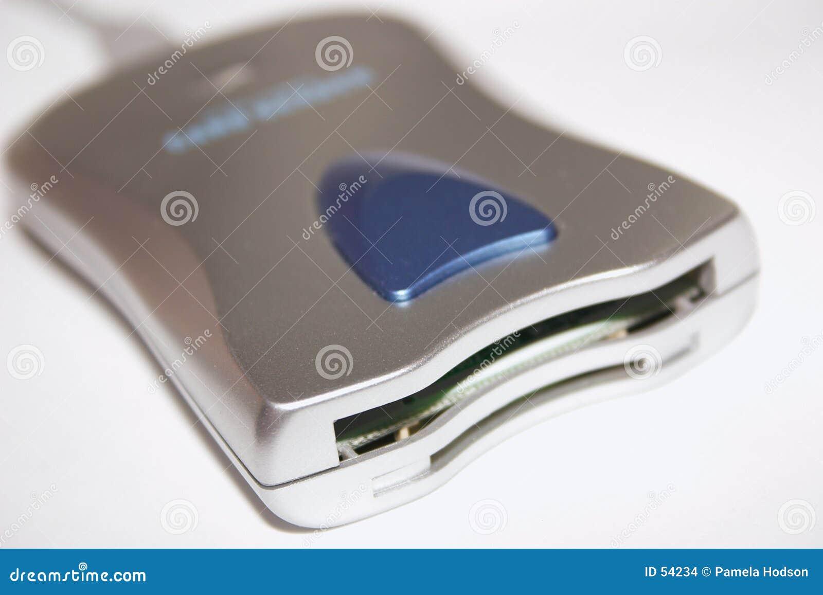 Download Lecteur de cartes photo stock. Image du connectivité, matériel - 54234