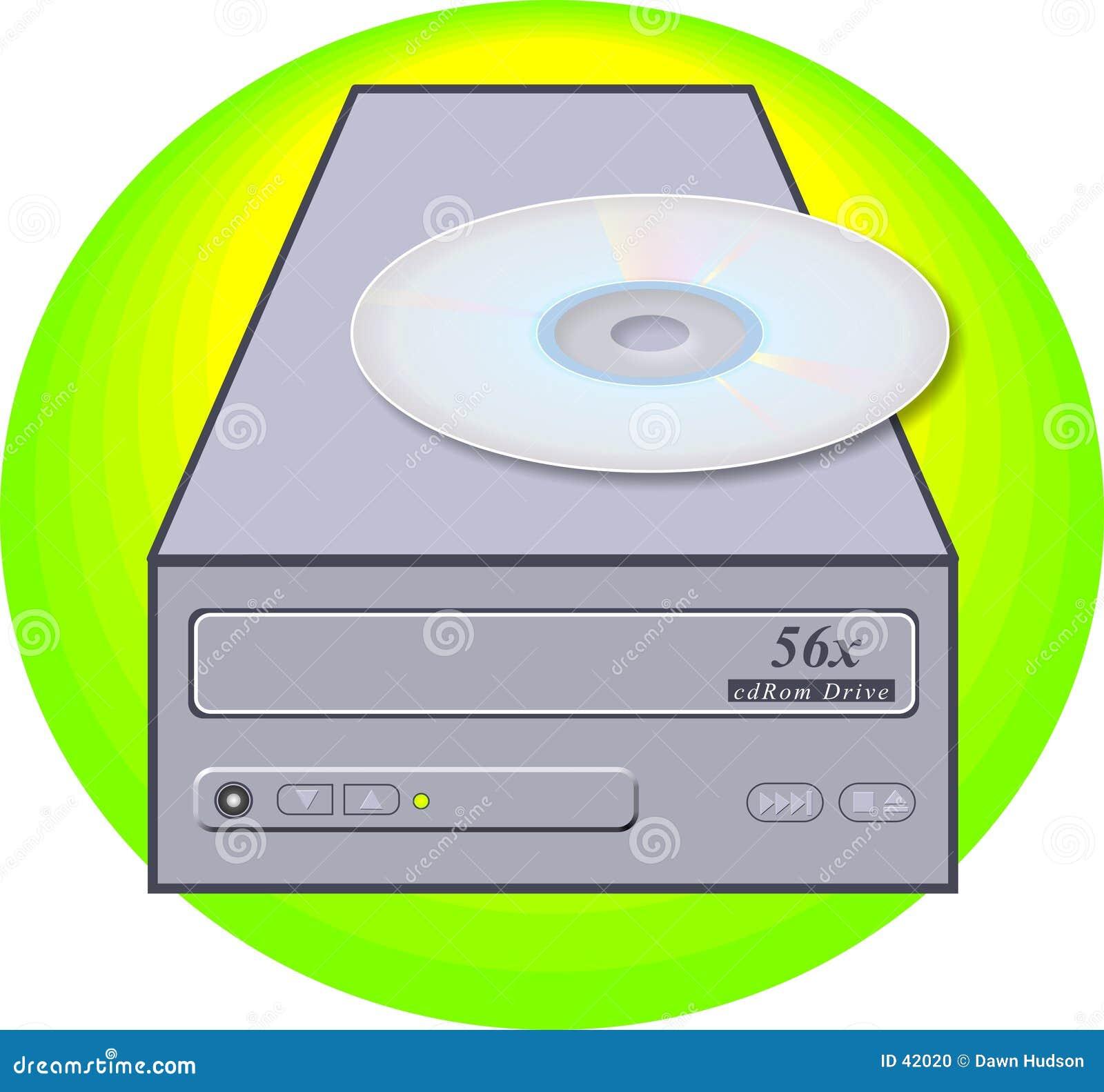 Download Lector de CD-ROM stock de ilustración. Ilustración de ordenador - 42020