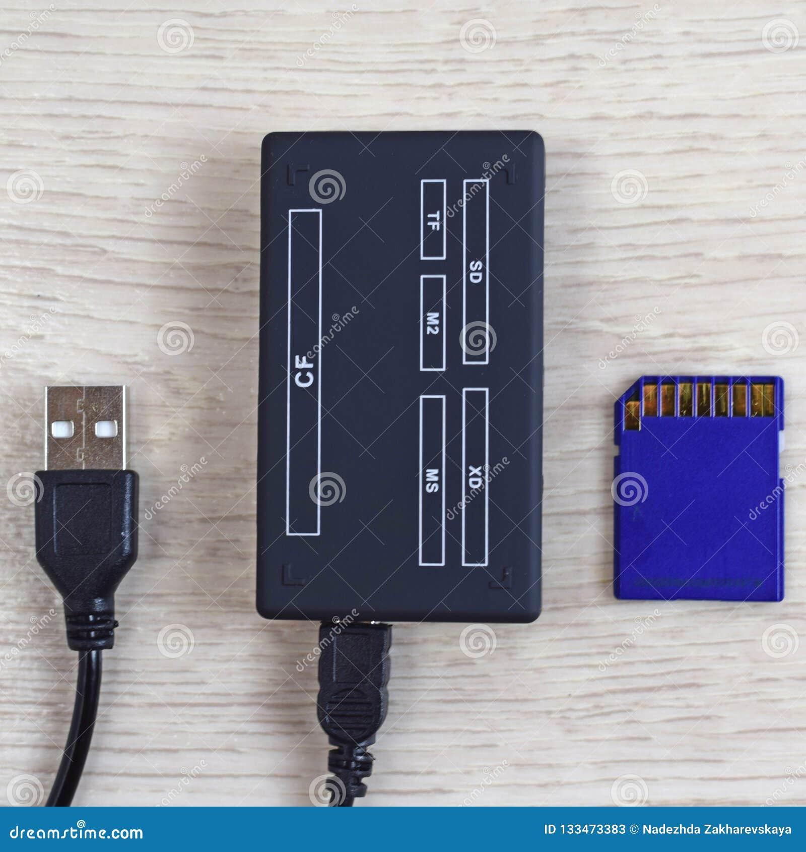 Lector y memoria USB de tarjetas