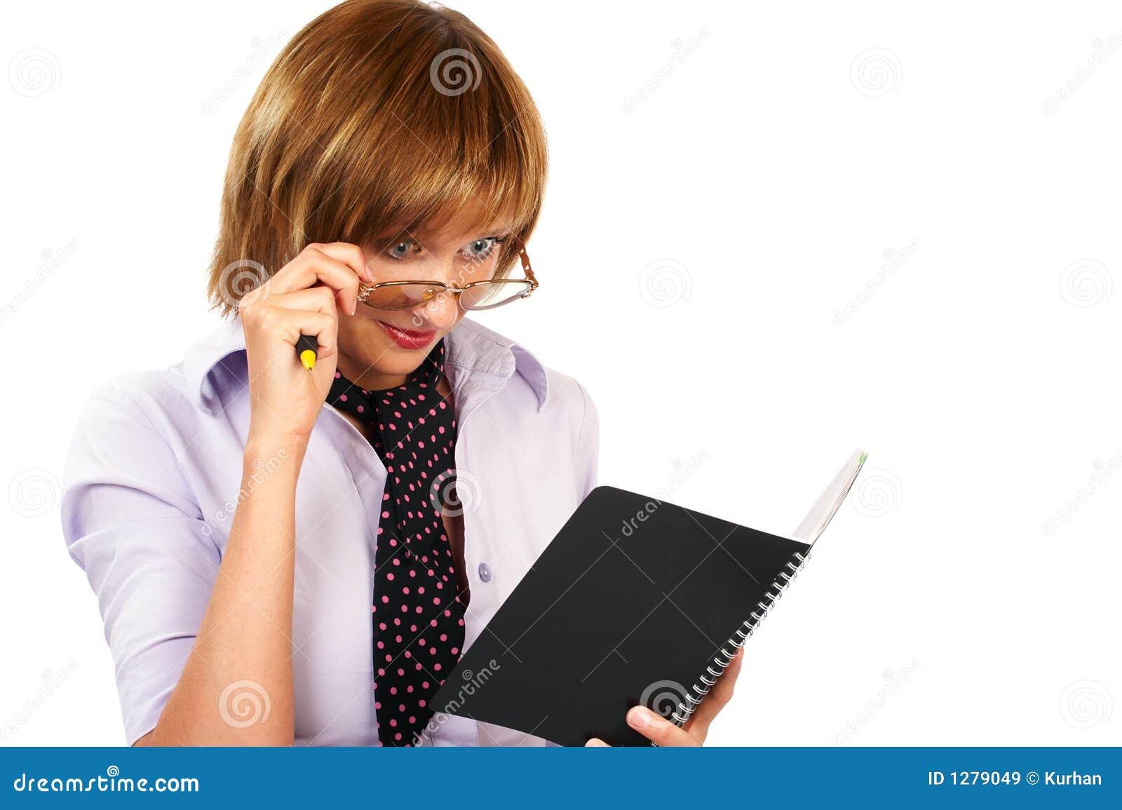 Lectura de la mujer de negocios