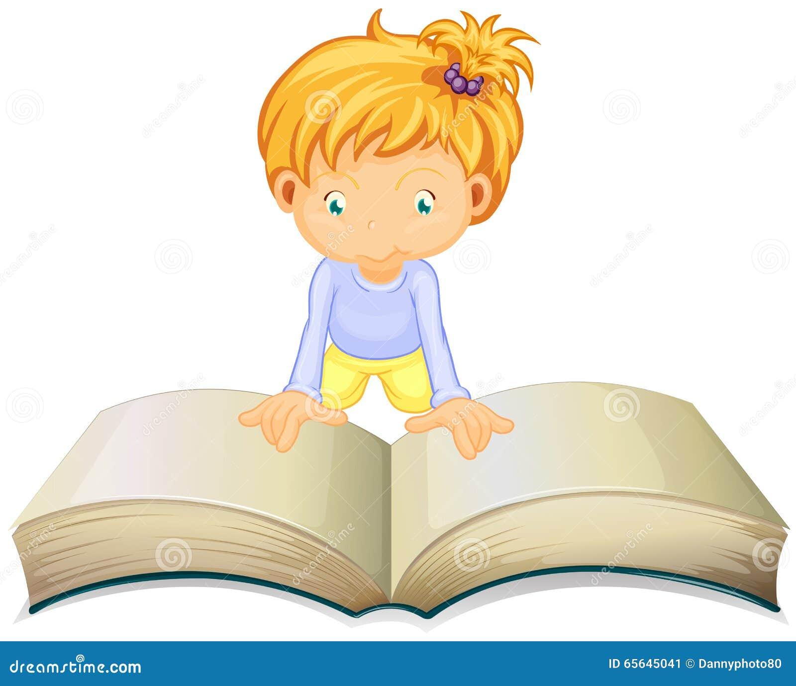 Lecture de petite fille de grand livre