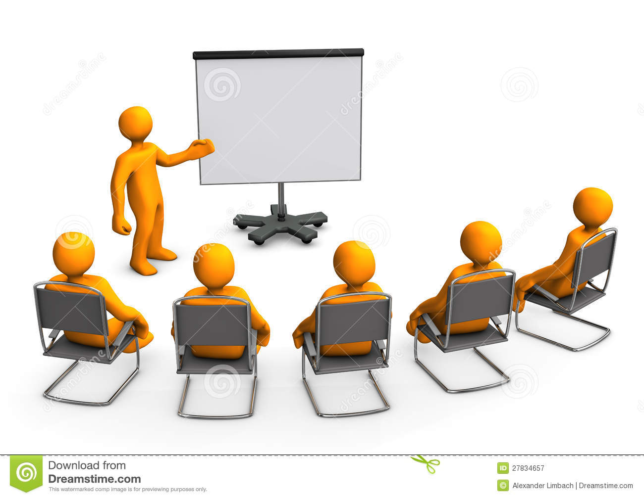 Lecture Flipchart Royalty Free Stock Photography - Image: 27834657