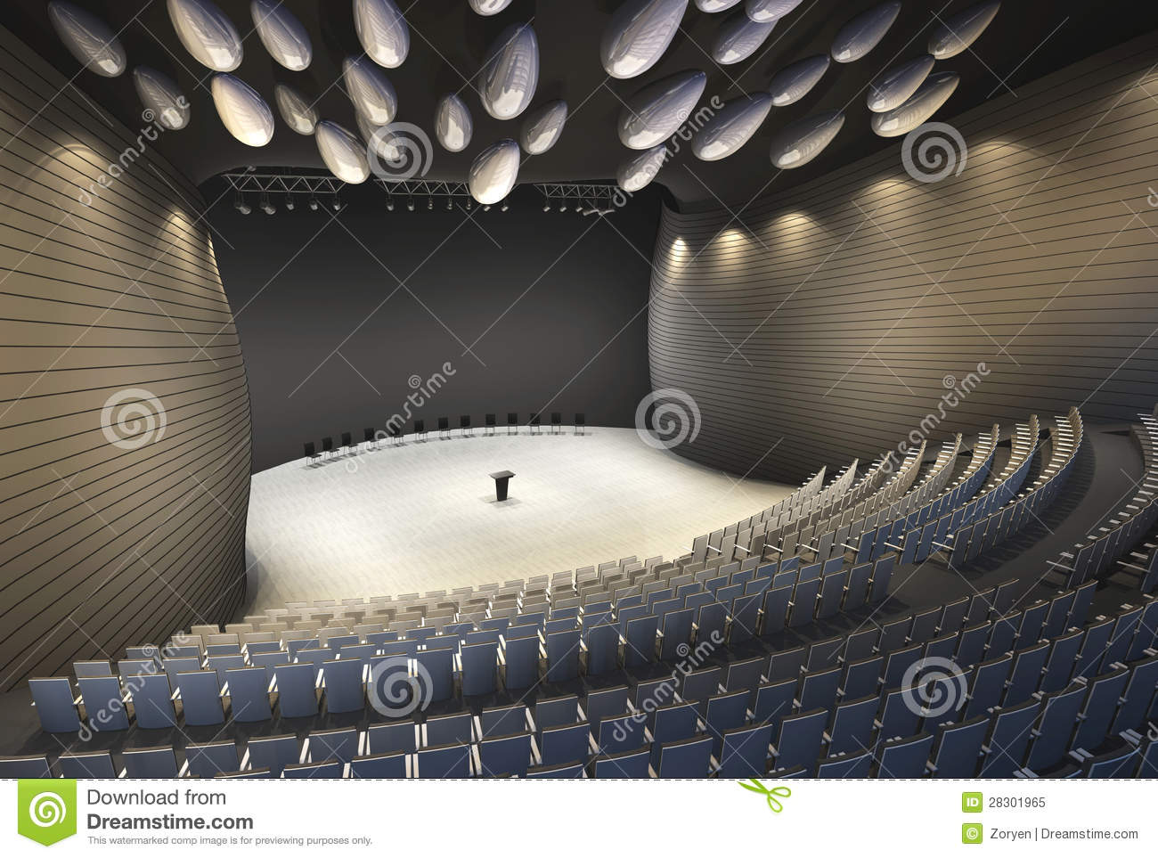 Lecture Hall Stock Illustration Image Of College