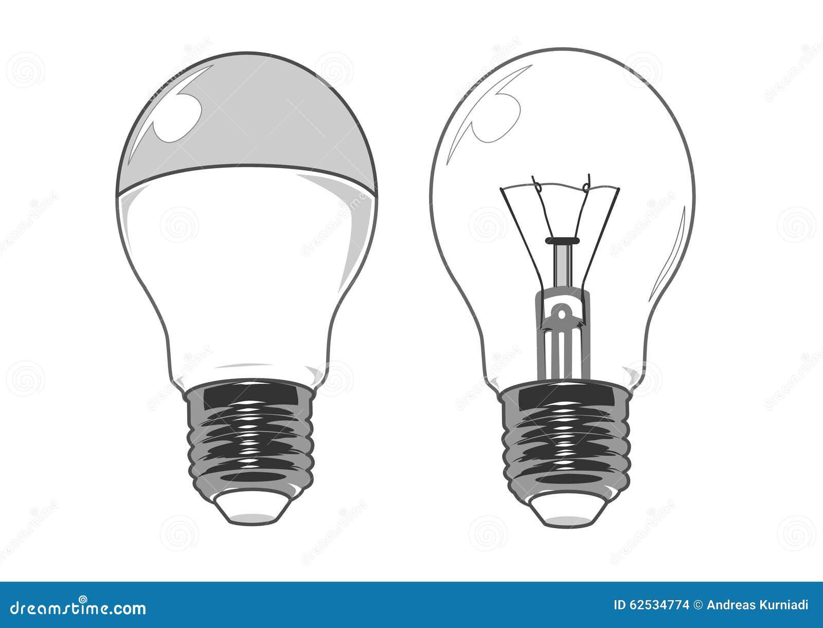 LED和规则电灯泡传染媒介图象