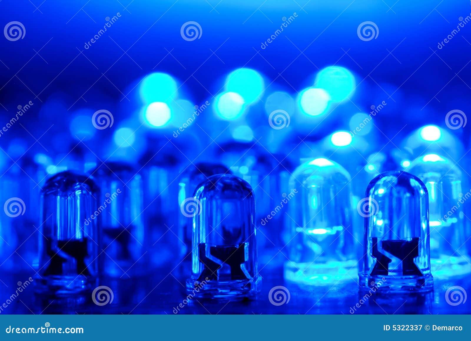 Download LED blu immagine stock. Immagine di lampada, piombo, lampadina - 5322337