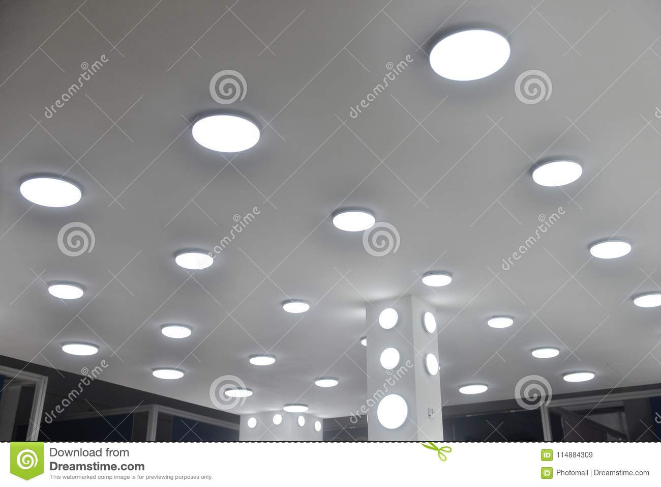 Led ceiling light bulbs stock image. Image of graphic - 114884309