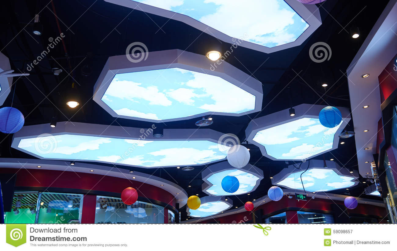 Led ceiling light used in shopping mall stock image image of led ceiling light used in shopping mall mozeypictures Image collections