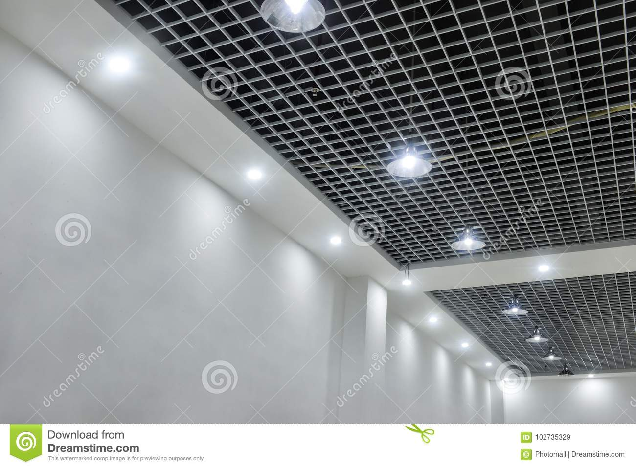 Led ceiling lights on modern commercial building suspended ceiling download led ceiling lights on modern commercial building suspended ceiling stock image image of bokeh aloadofball Gallery