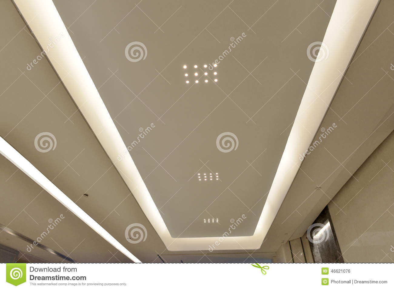 Led ceiling of modern plaza hall modern office building modern royalty free stock photo download led ceiling mozeypictures Choice Image