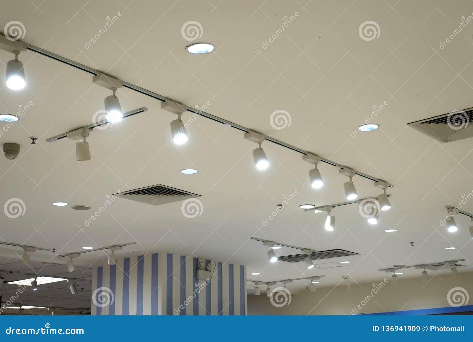 Led Ceiling Spot Lighting In Modern Building Modern