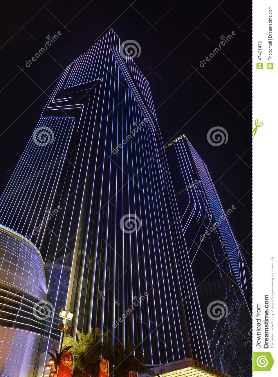 Led Curtain Wall,night Lighting Of Commercial Building