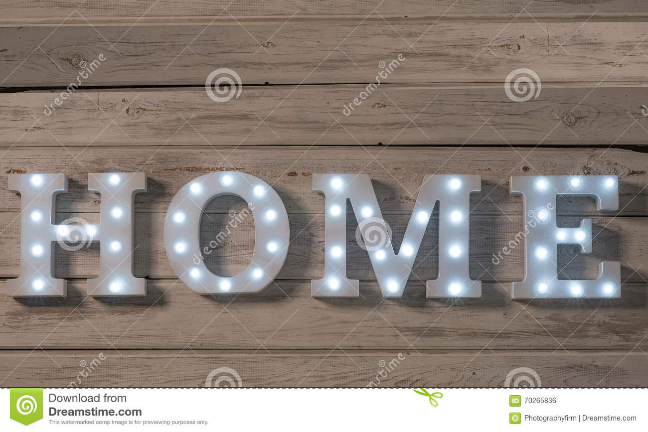Beau LED Embedded Decorative Letters That Spell HOME