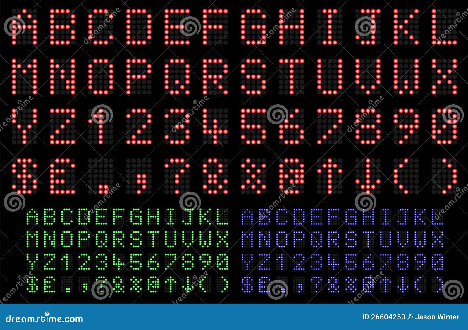 LED Font stock vector  Illustration of machine, digital