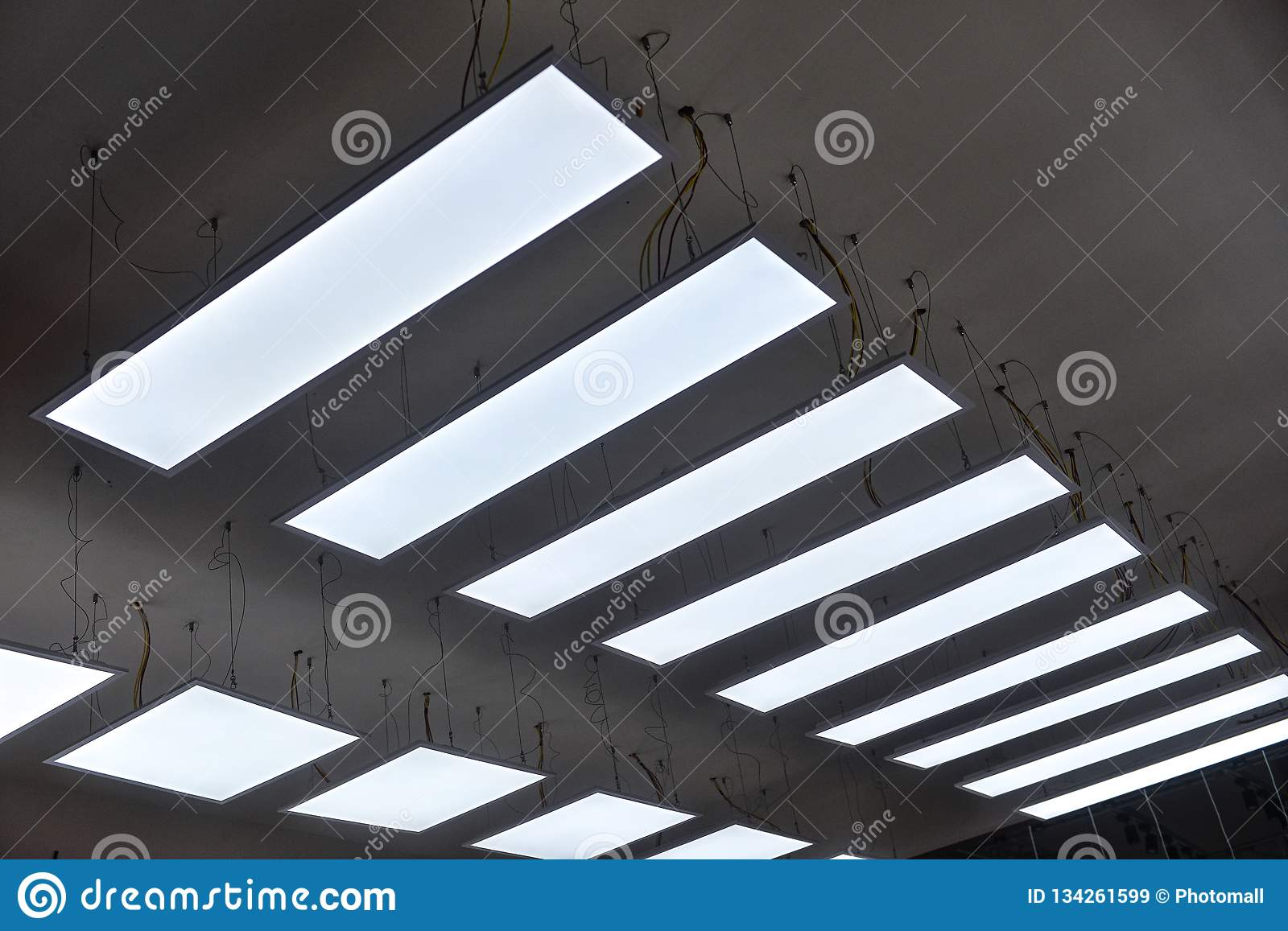 Led Hanging Lighting In Commercial Building Stock Image Image Of Appliance Exhibit 134261599