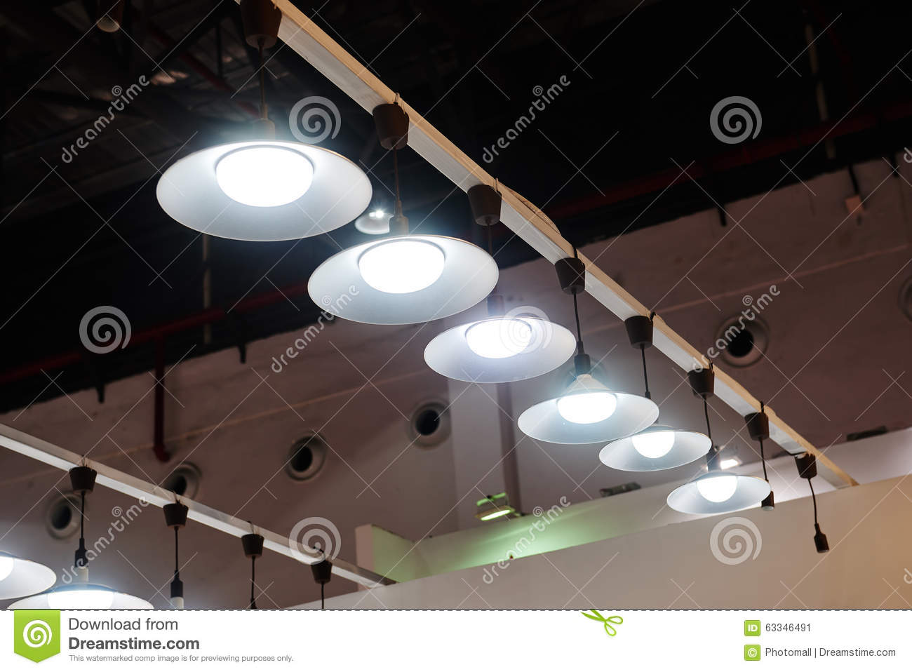 Led hanging lighting in office stock image image of bulbs hall led hanging lighting in office mozeypictures Choice Image