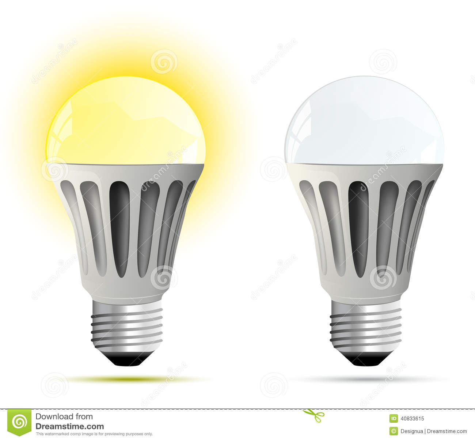 Led Lamp Vector Illustration Stock Vector Illustration