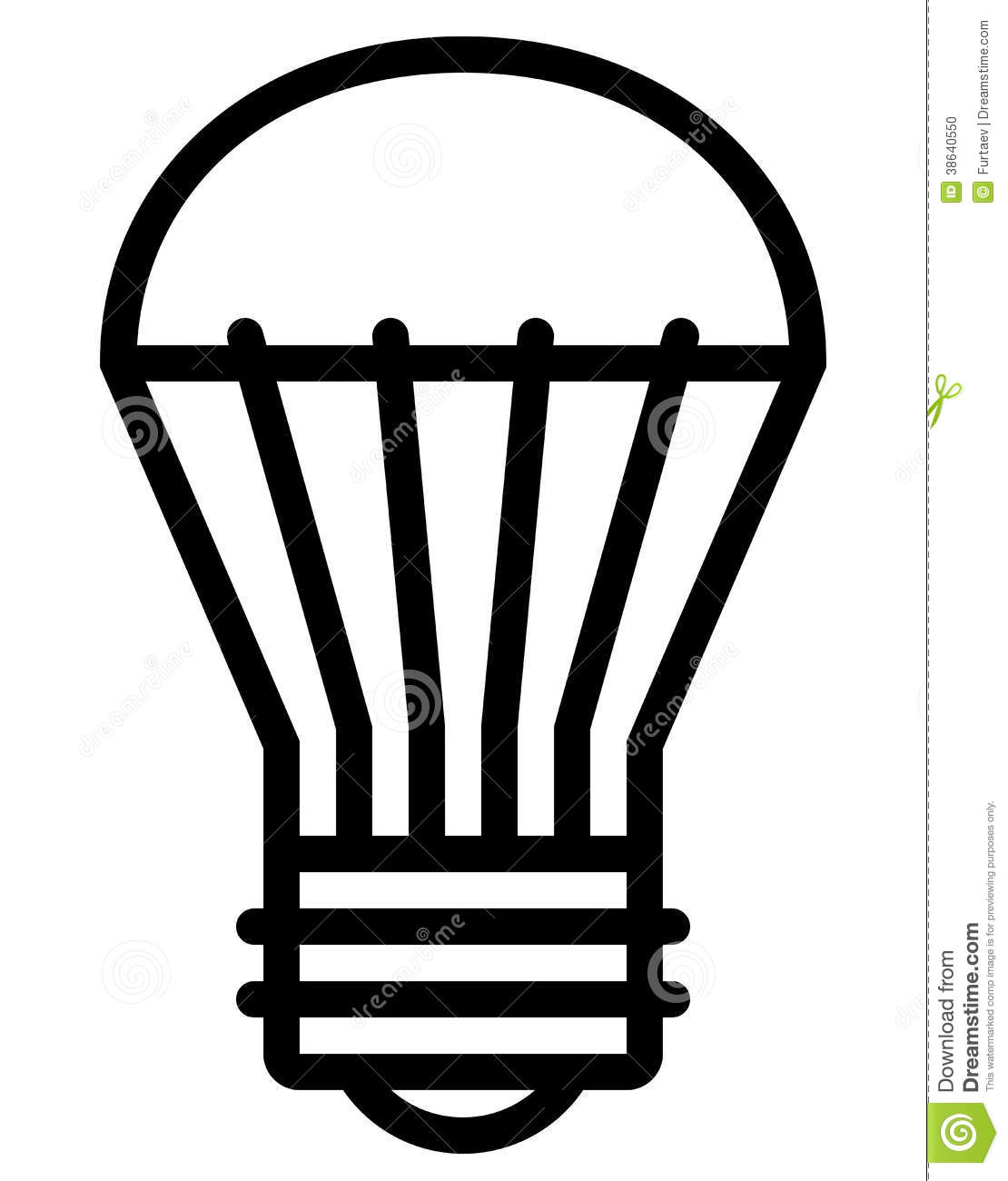 Led light bulb icon stock vector illustration of idea 38640550 led light bulb icon biocorpaavc Images