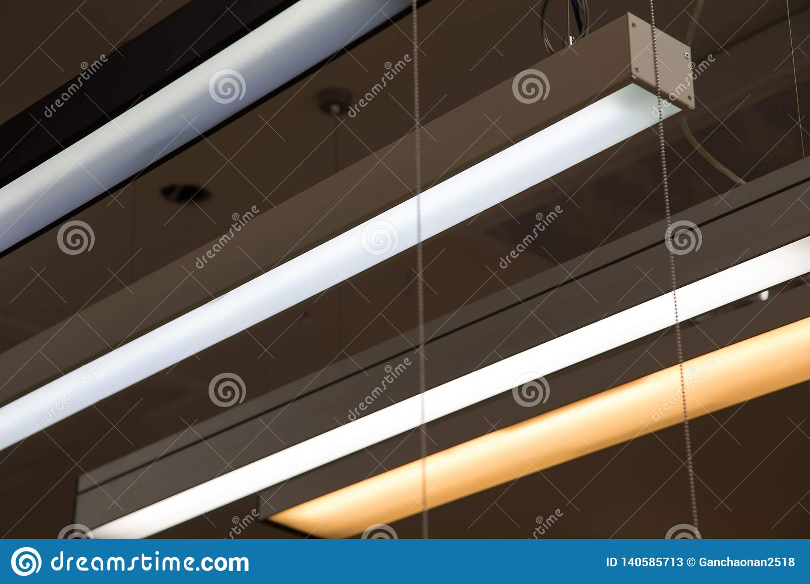Led Light Bulb In The Industrial Lamp Is Bright On The Ceiling Of The New Warehouse With Copy Space Stock Illustration Illustration Of Diamond Decorative 140585713