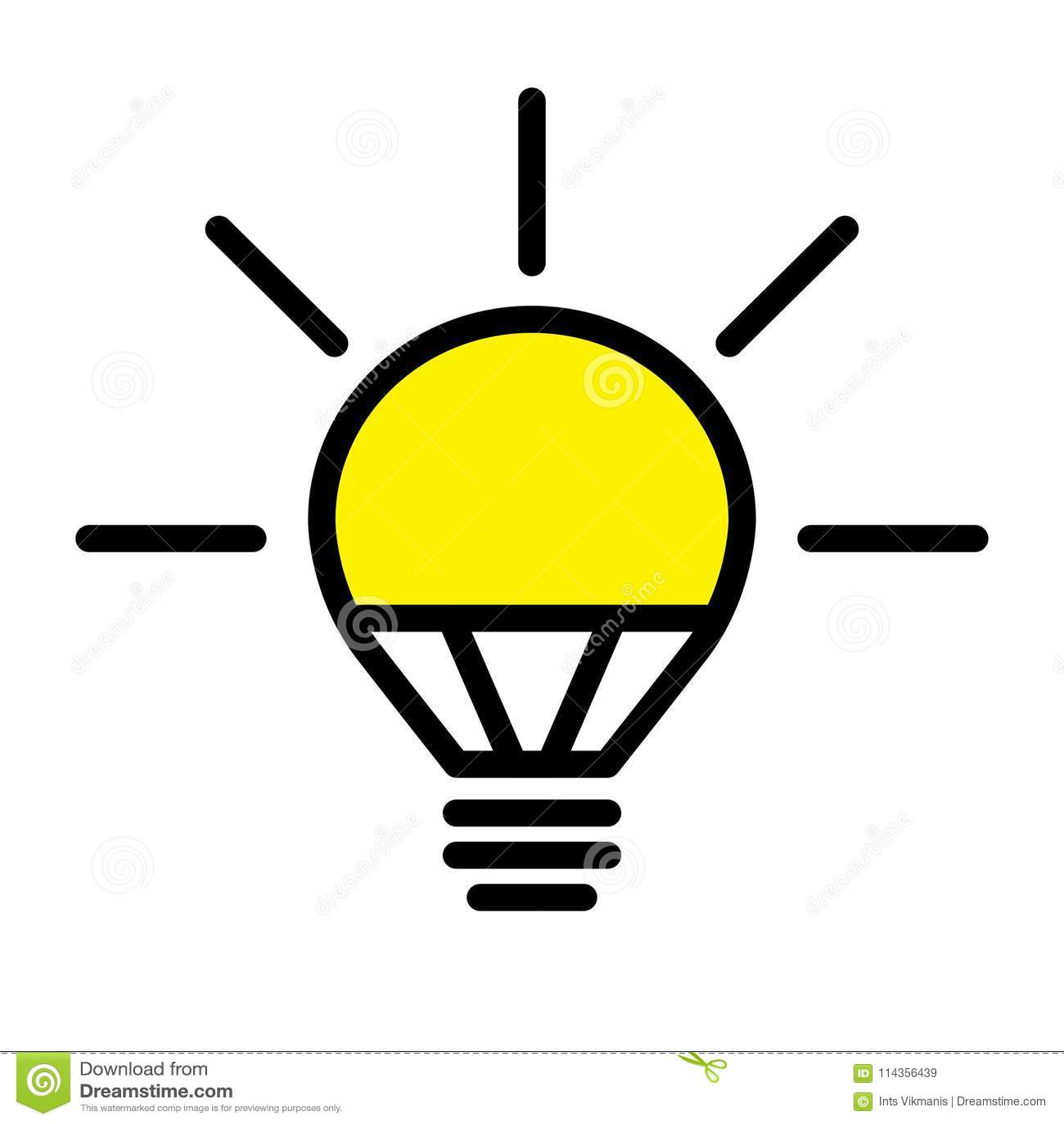 Download LED Light Bulb Lamp Stock Vector Illustration Of Glass