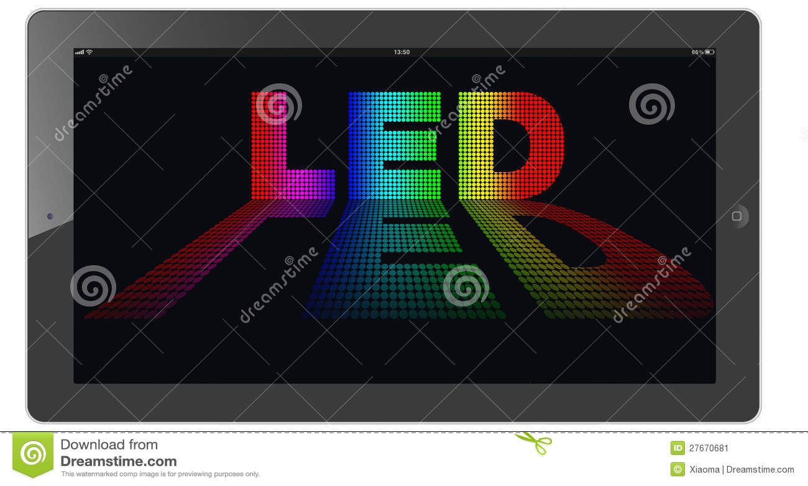Led Light Emitting Diode Stock Illustration Of Oled Diagram
