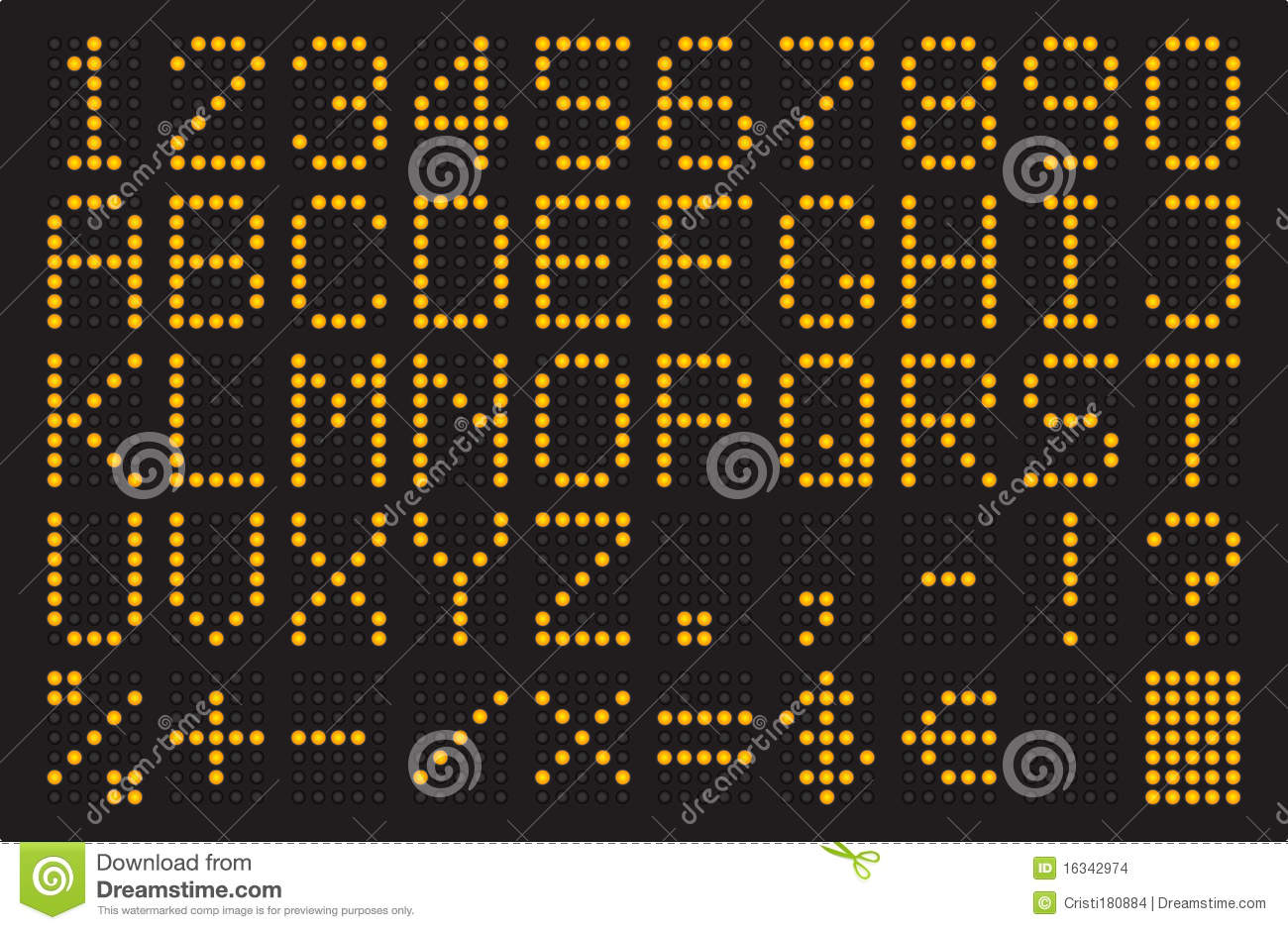 Led light font stock illustration  Illustration of light - 16342974