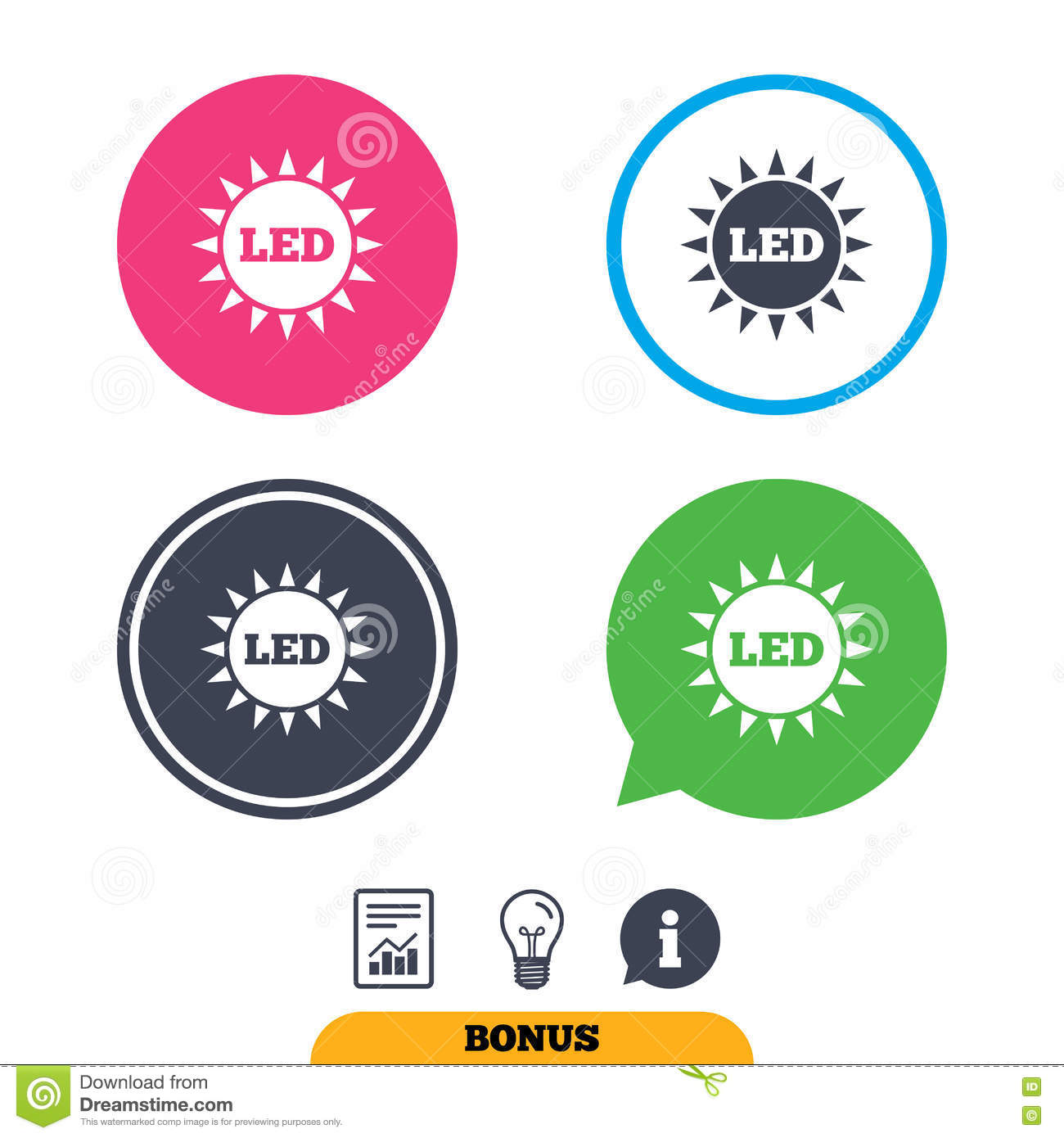 Led Light Sun Icon. Energy Symbol. Stock Vector - Illustration of ...