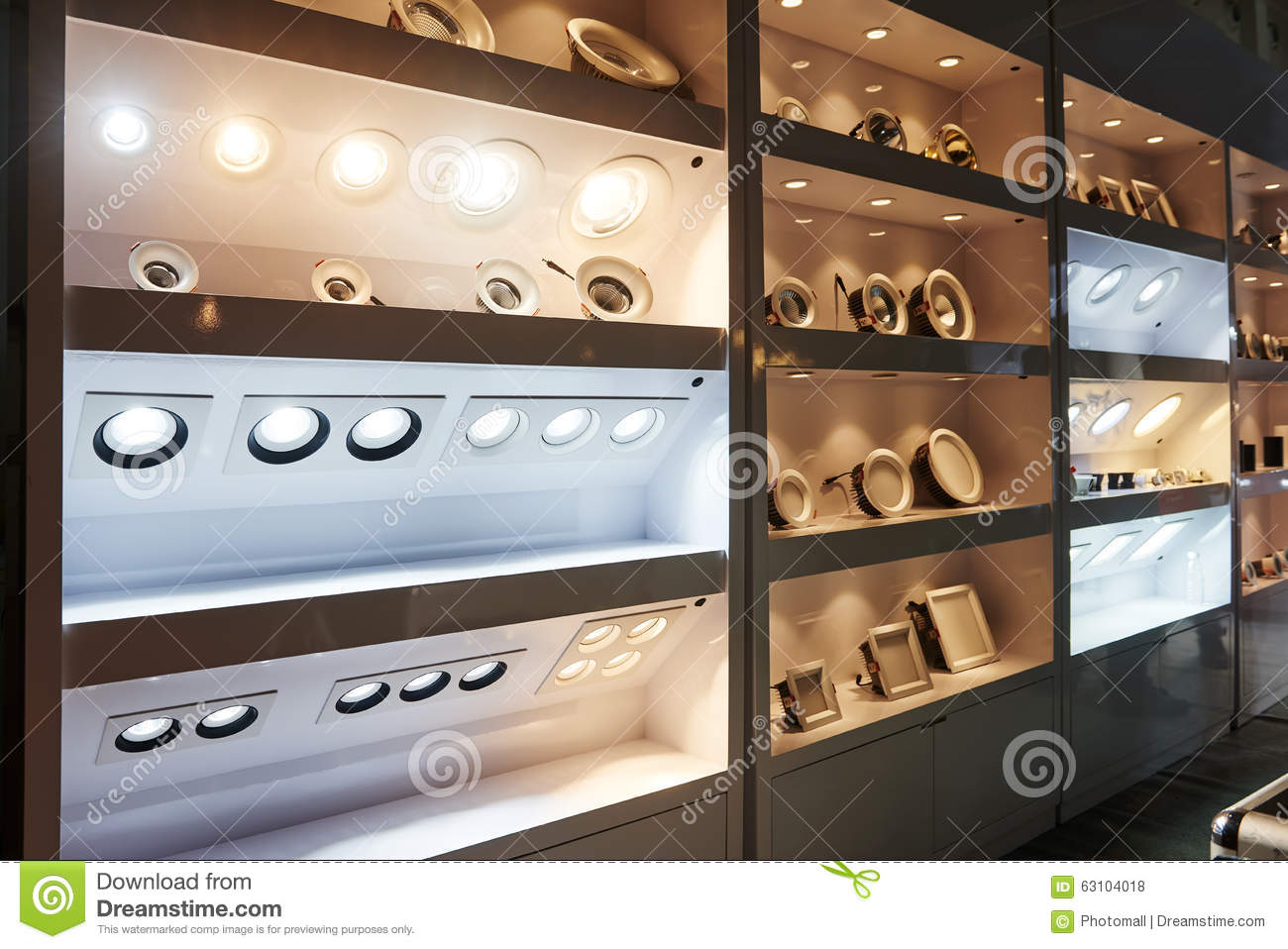 Led Lighting Bulb Shelf Stock Photo Image Of Conservation 63104018