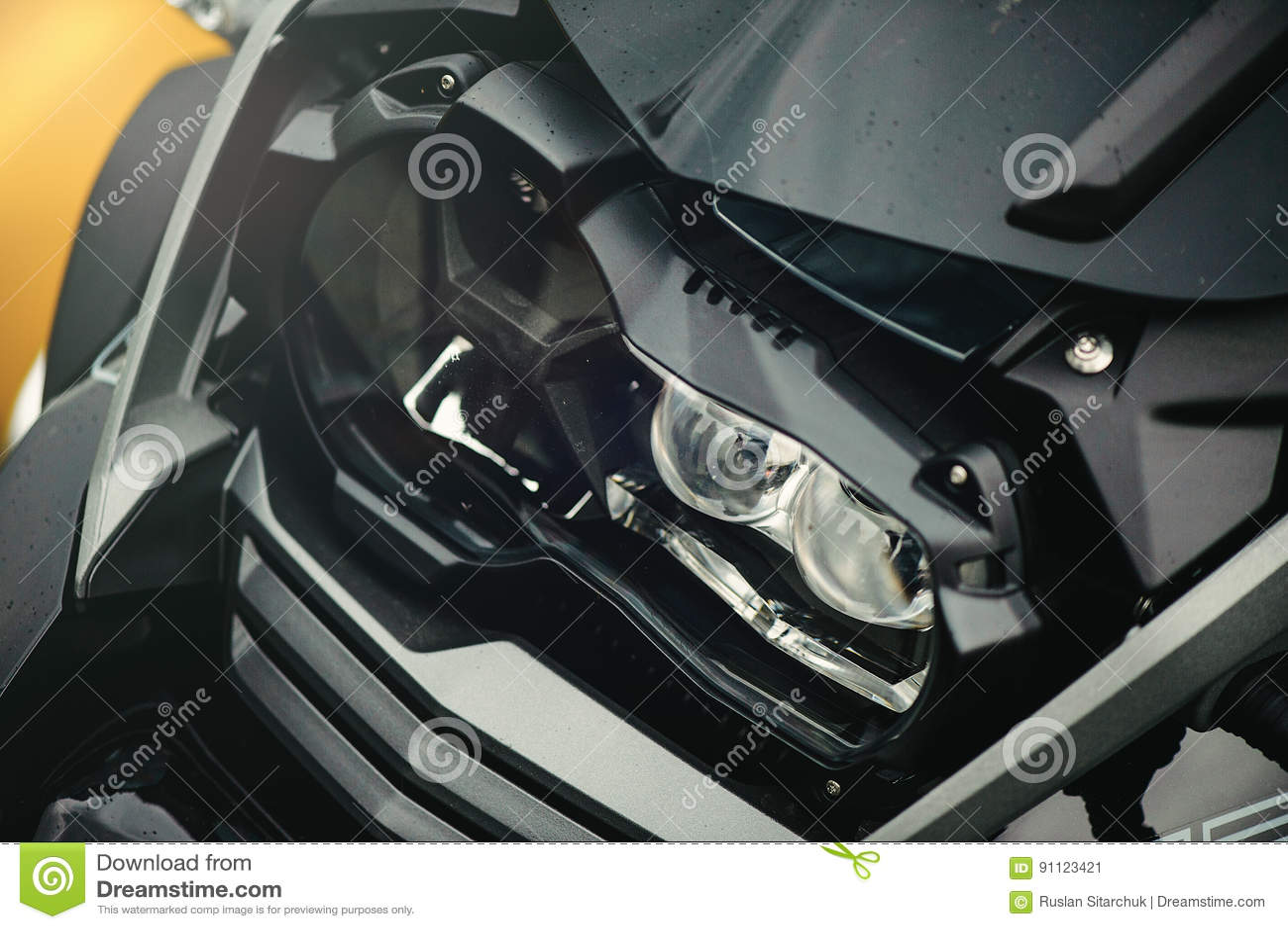 Led motorcycle headlight stock image. Image of protection - 91123421 for Motorcycle Headlight Design  53kxo