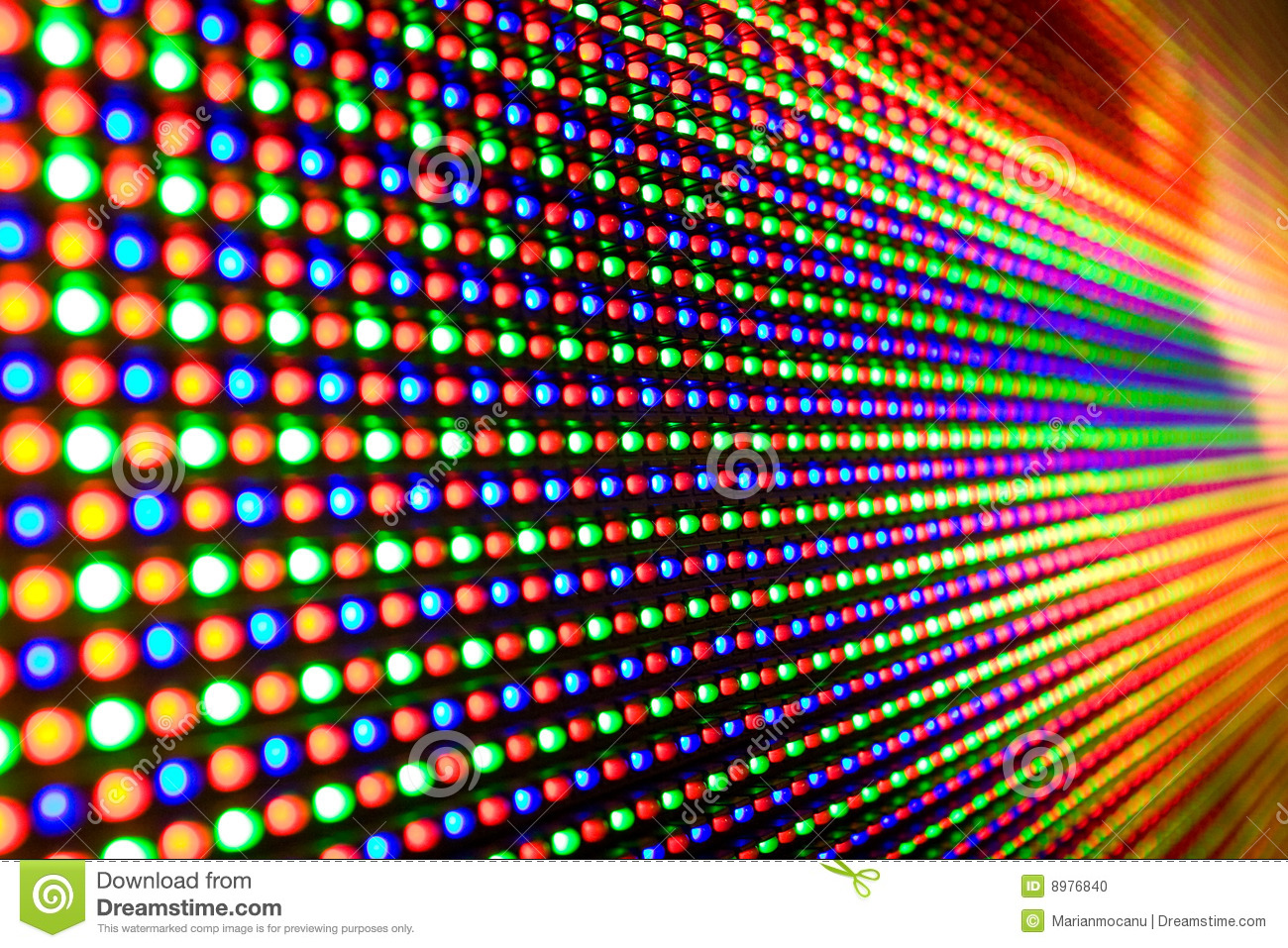 Led Screen Stock Photo - Image: 8976840
