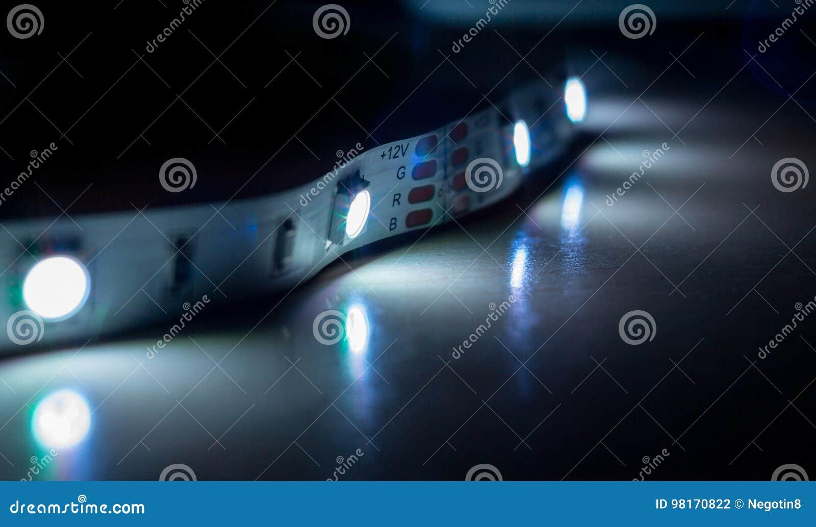Led strip lights stock photo image of electricity green 98170822 led strip lights royalty free stock photo aloadofball Gallery