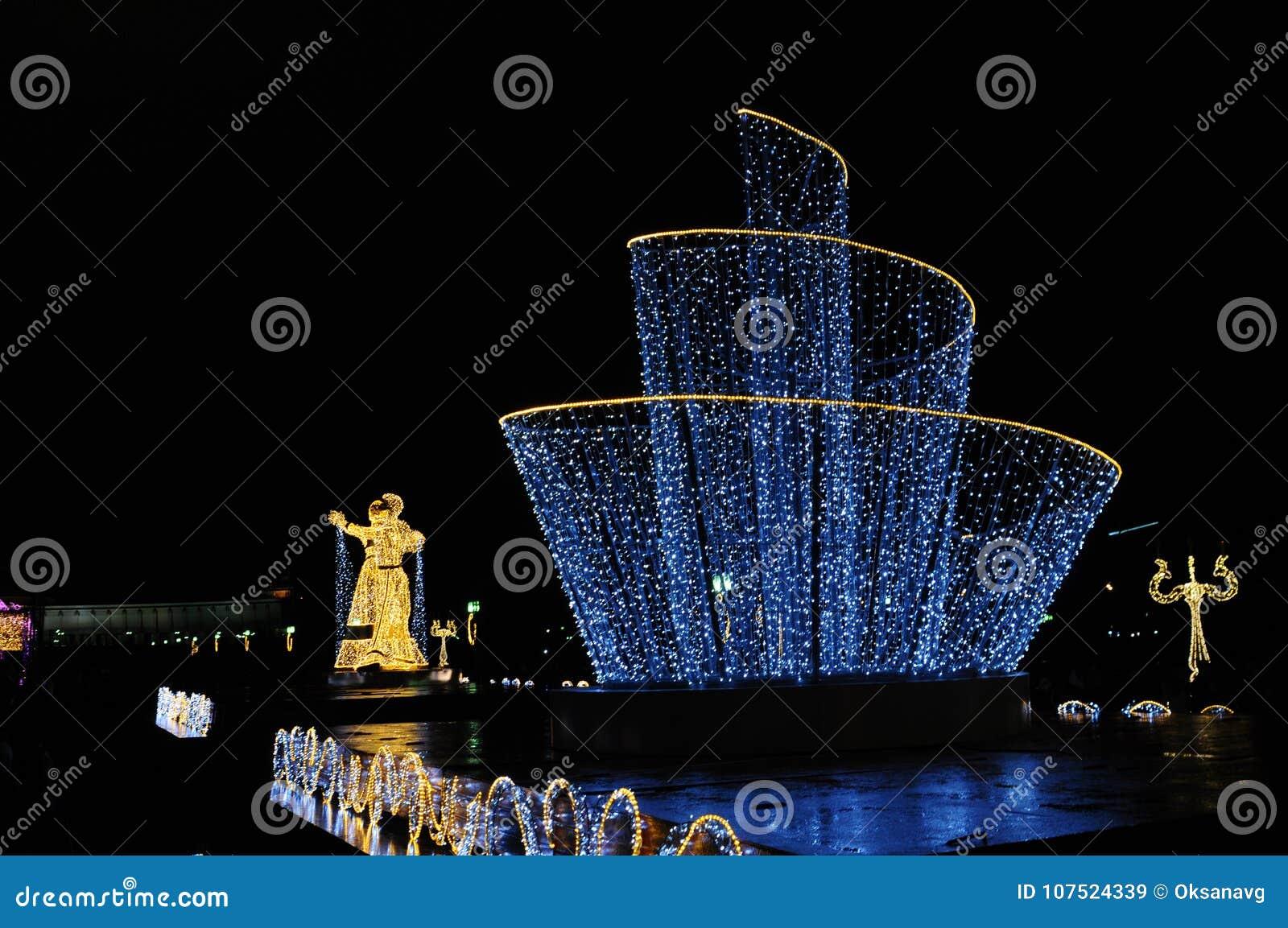 Led Weihnachten.Led Tänzer Auf Der Festival Reise Zum Weihnachten Redaktionelles