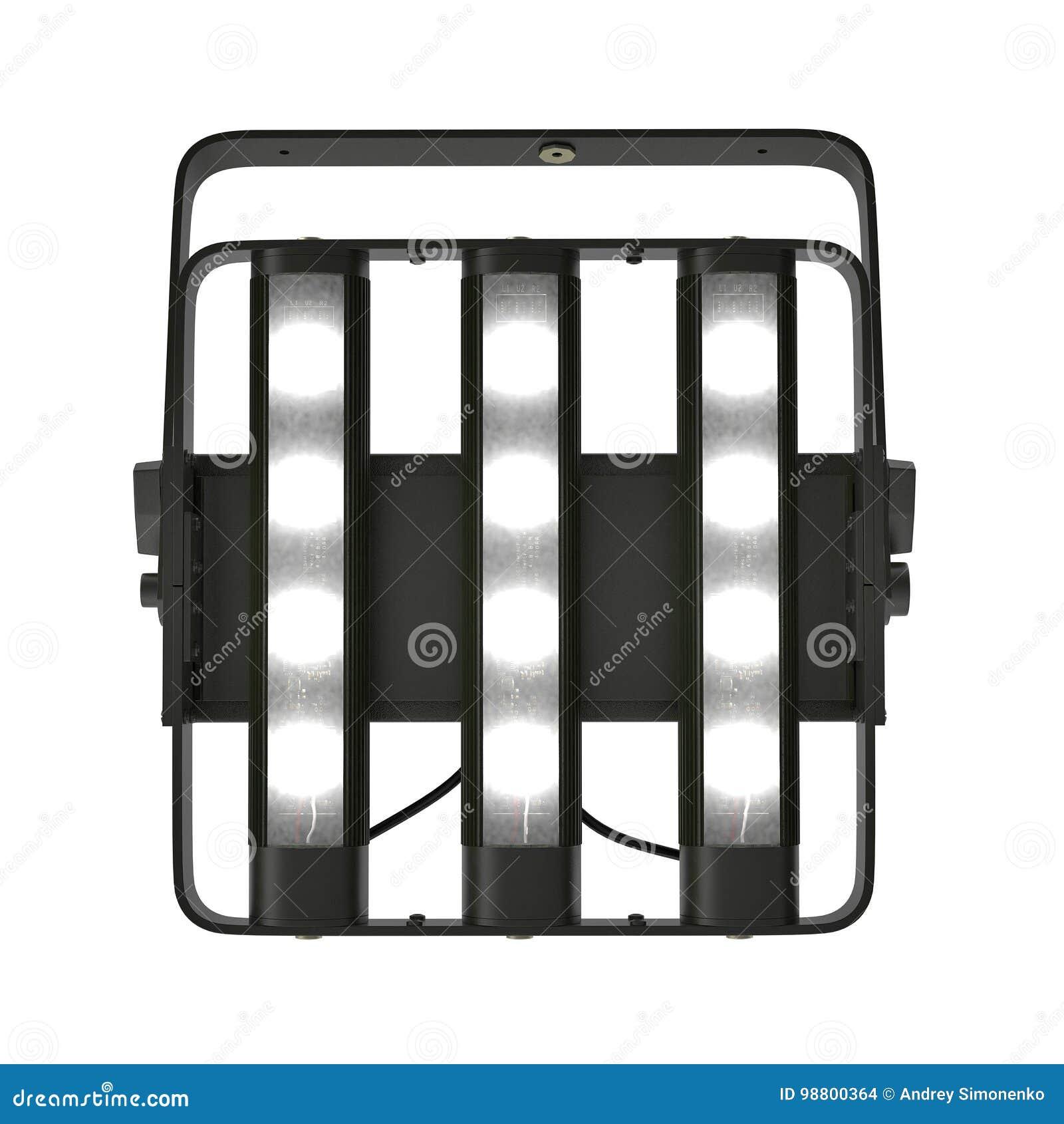 LED Theatrical Blacklight On White  3D Illustration Stock