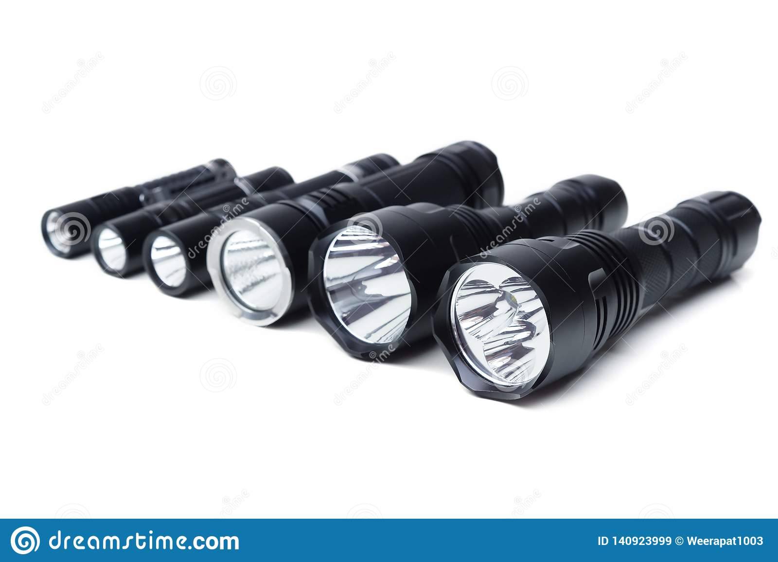 Flashlights for camping in different sizes