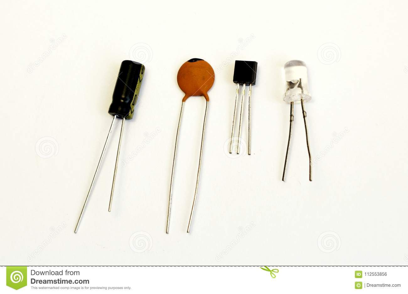 Transistor Led Circuit Capacitor Radio Component Stock Photo Image Of