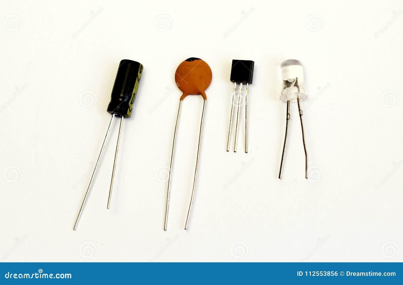 Led Transistor Capacitor Radio Component Stock Photo Image Of Circuit