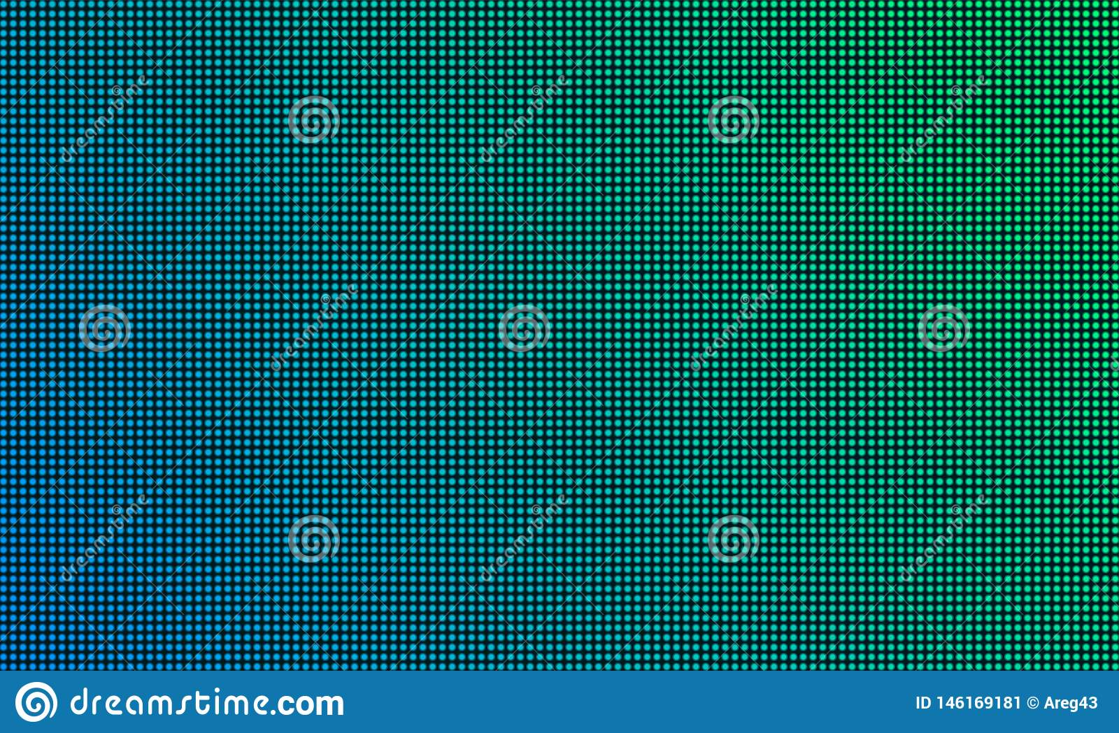 LED TV screen monitor with diode light texture background. Vector video wall digital led tv display with gradient color