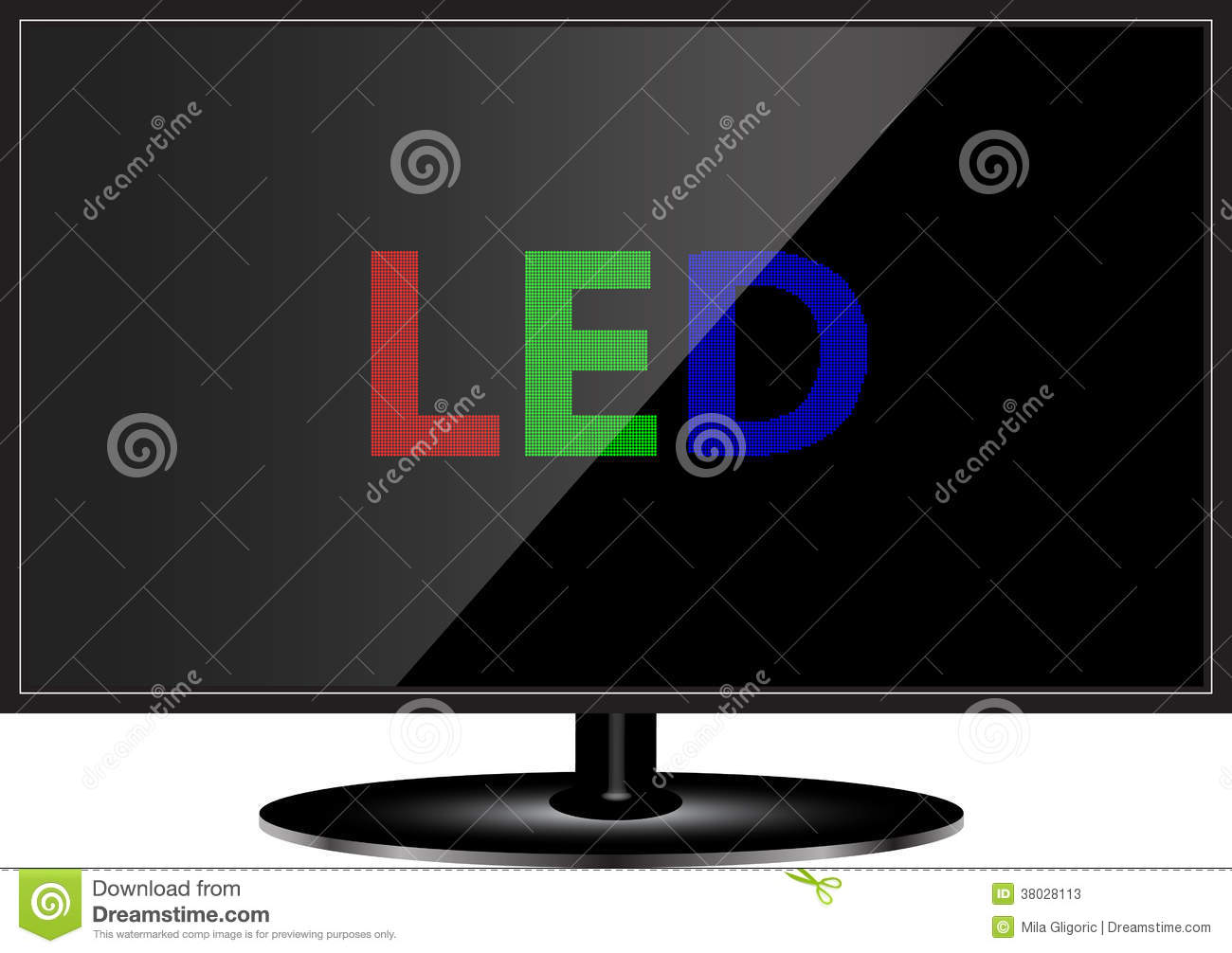 LED TV Technology Stock Photos