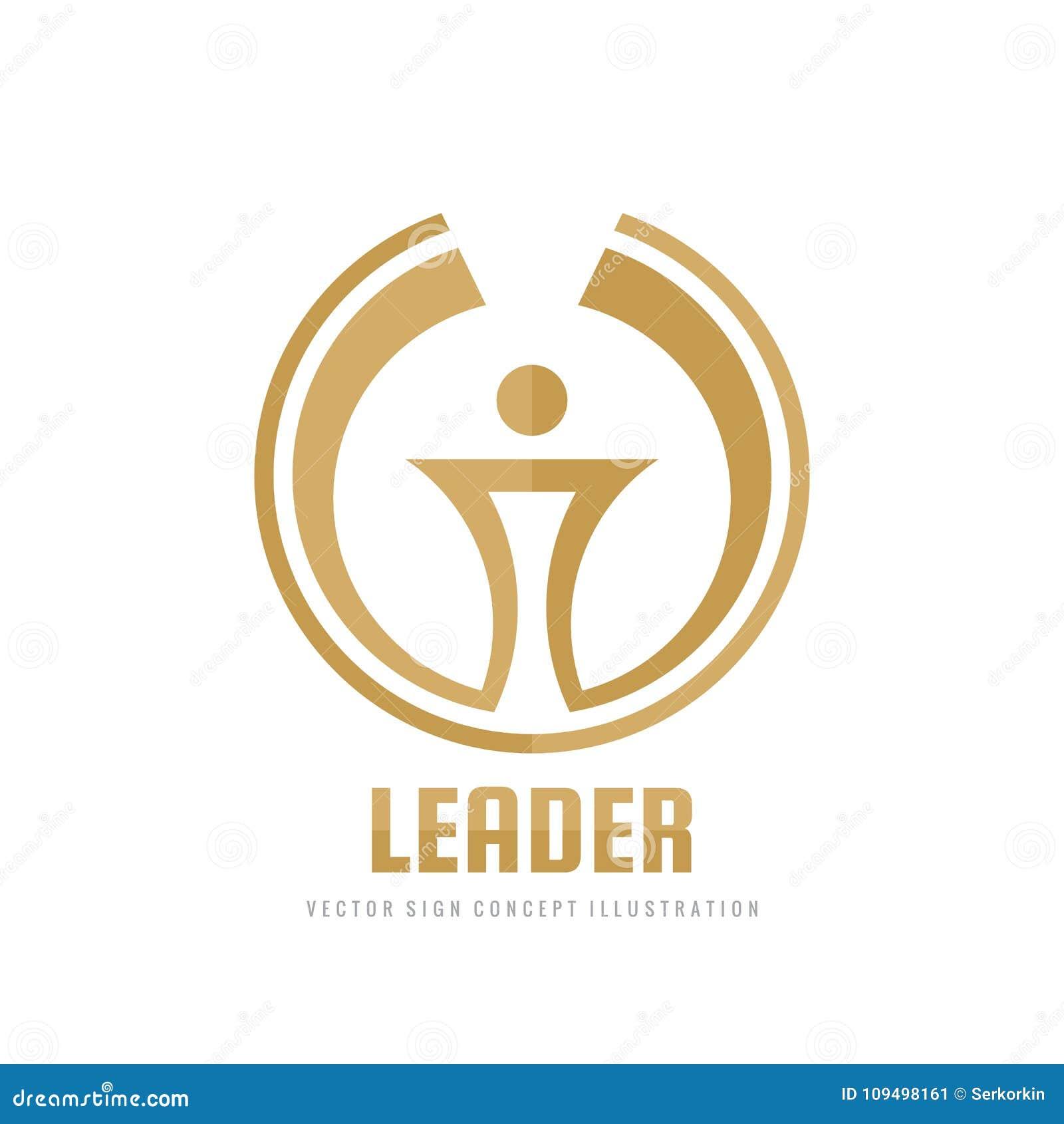 Ledare - illustration för begrepp för mall för vektoraffärslogo Idérikt tecken för abstrakt fackla Symbol för utmärkelsevinnareko