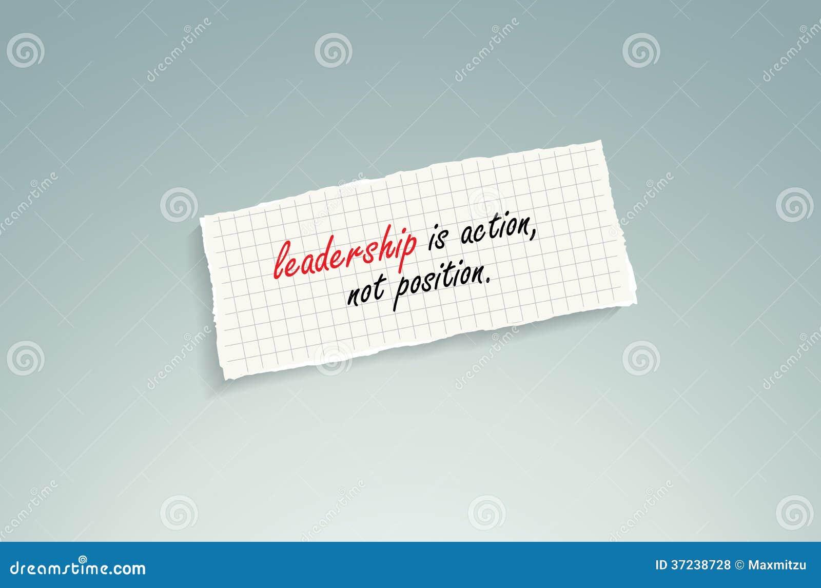 Ledarskap är handling, inte position