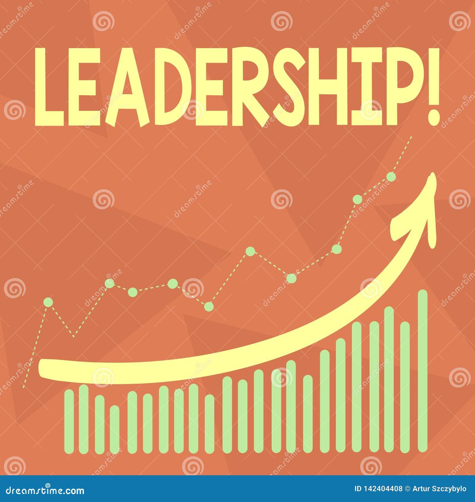 Ledarskap för handskrifttexthandstil Menande kapacitetsaktivitet för begrepp som gäller leda en grupp av visning eller företaget