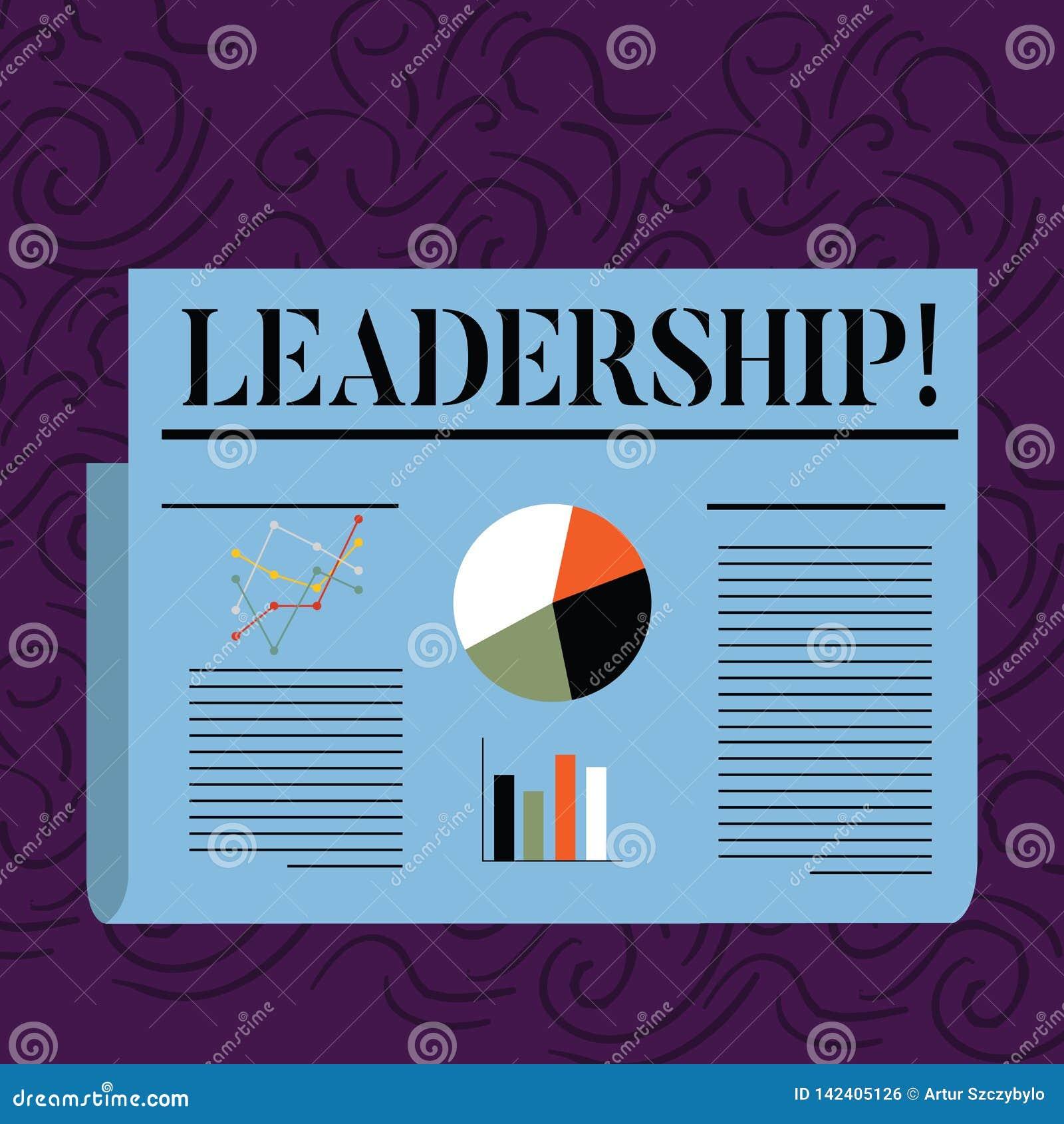 Ledarskap för textteckenvisning Begreppsmässig fotokapacitetsaktivitet som gäller leda en grupp av visning eller det färgrika för