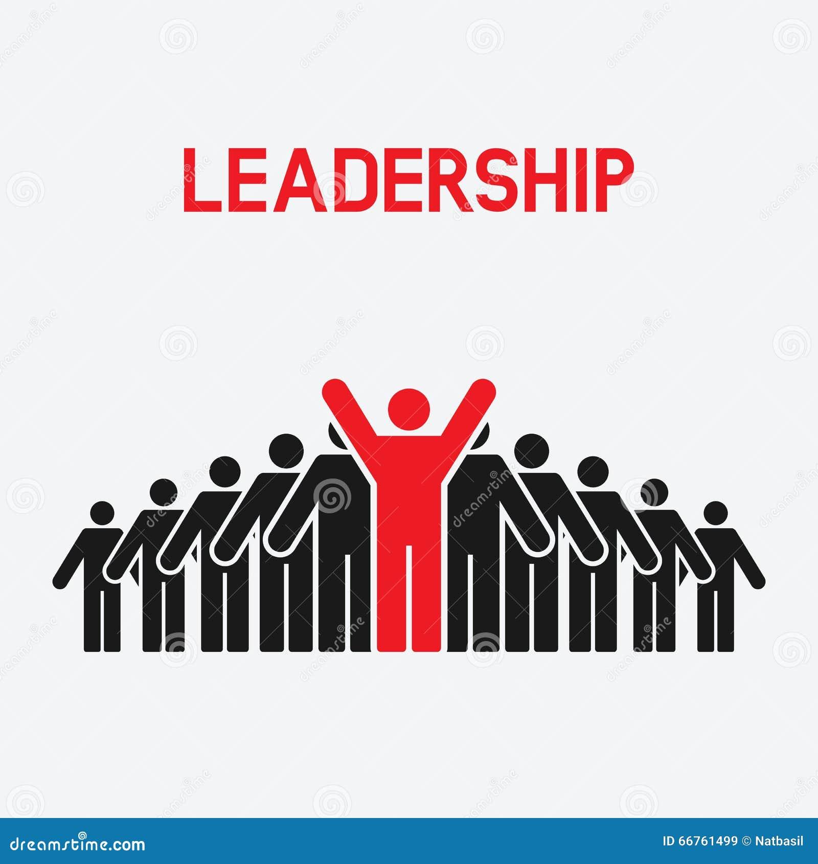 Ledarskap och teamworkbegrepp