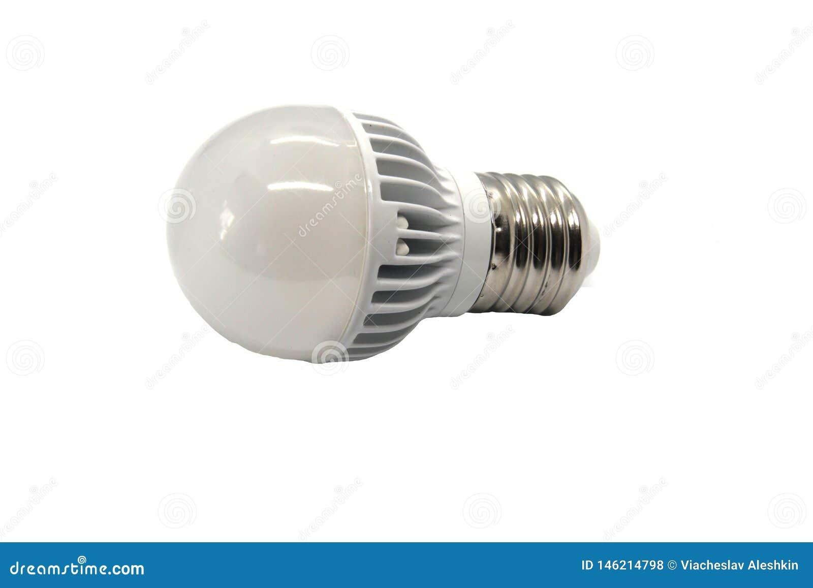 LEDD lampa p? en vit bakgrund