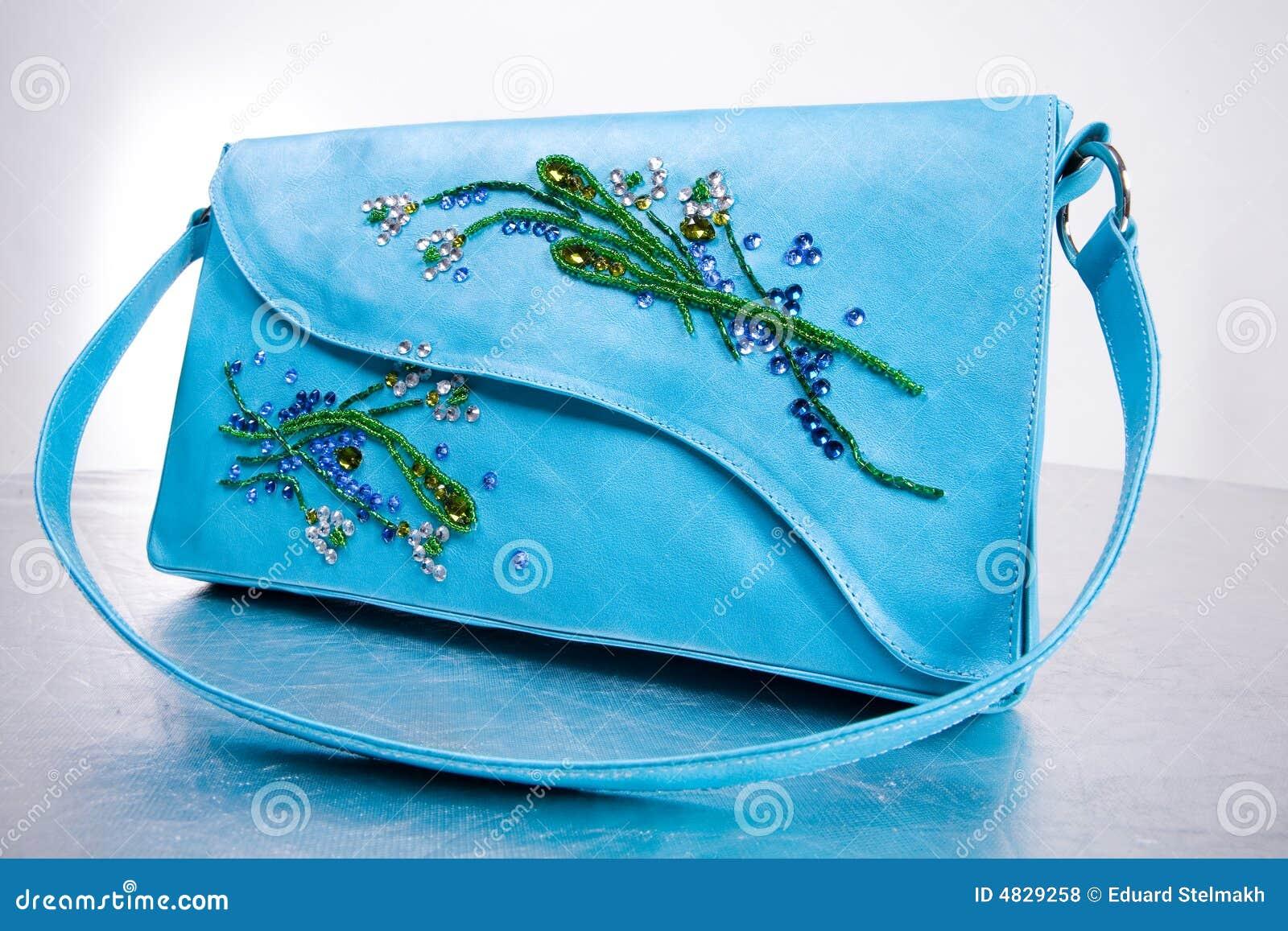 Lederne Handtasche der Frau. Handgemacht