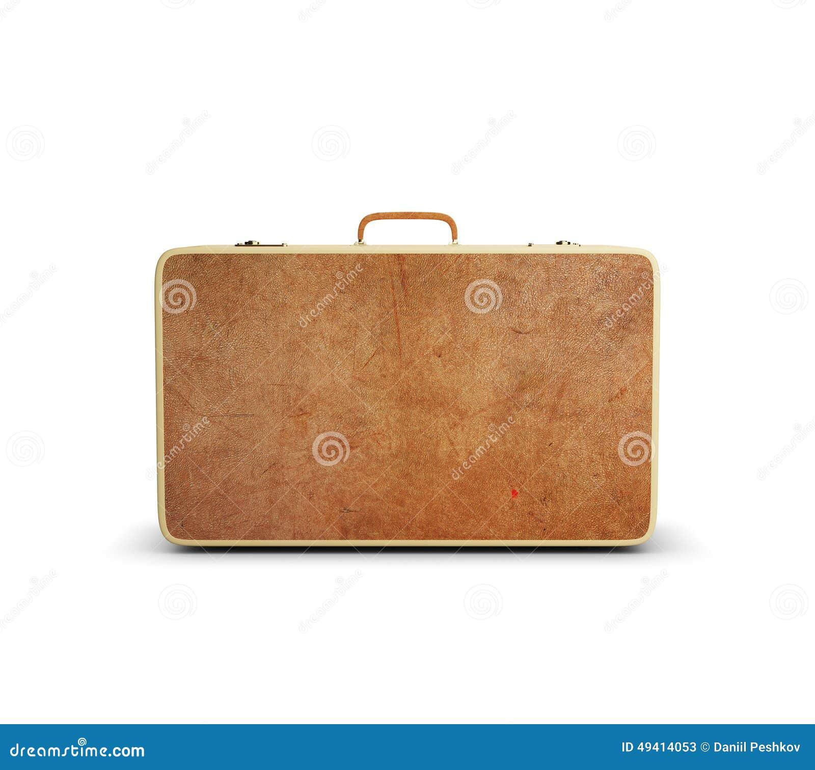 Download Lederner großer Koffer stockbild. Bild von retro, eleganz - 49414053