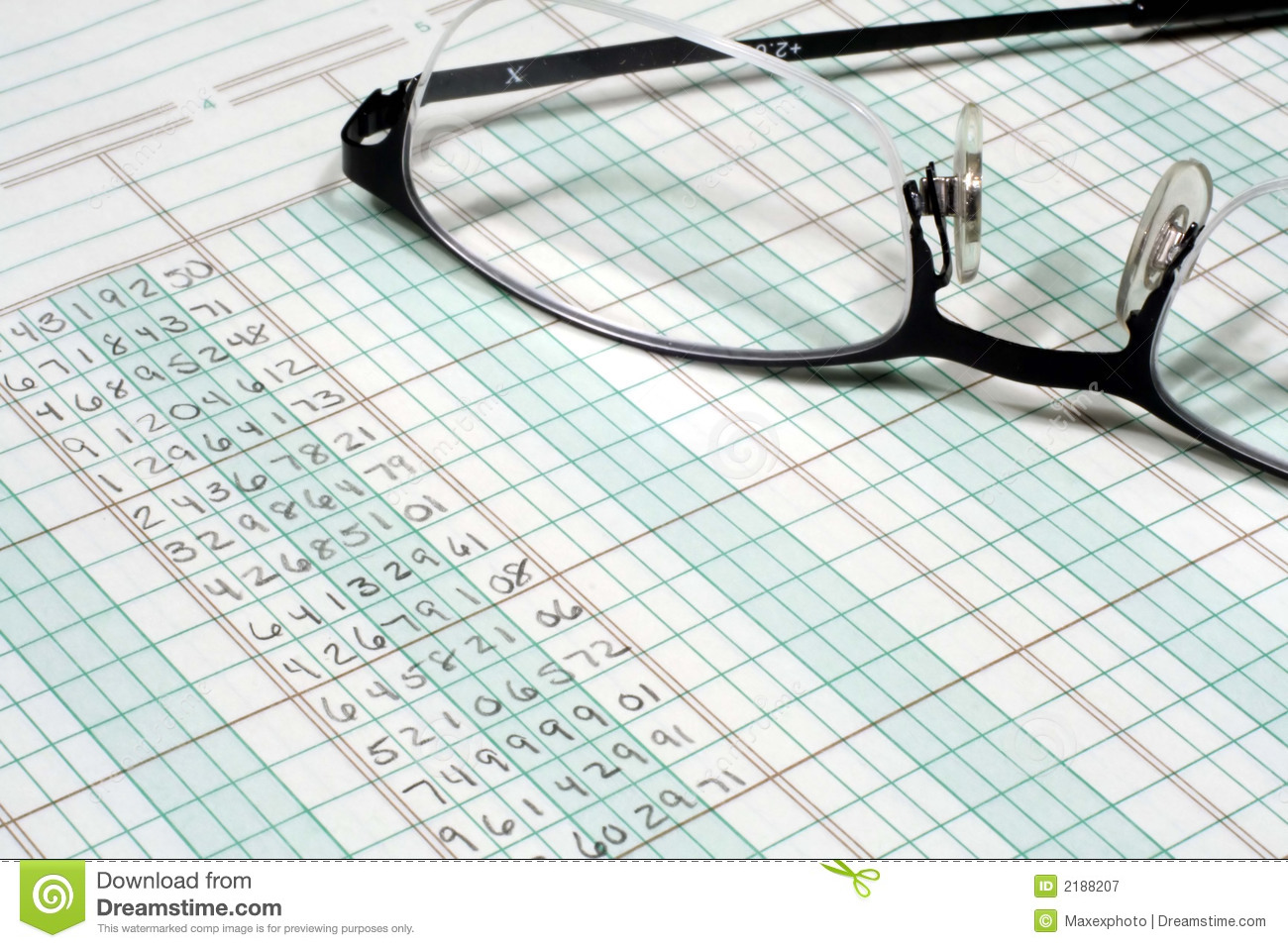 ledger paper and glasses stock image image of busy journal 2188207