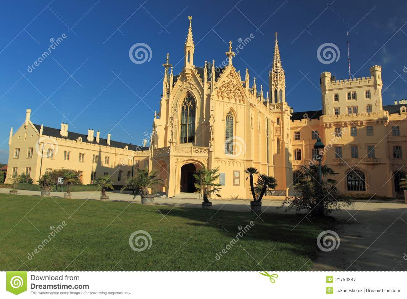 Download Lednice stock image. Image of chateau, castle, view, historic - 21754847