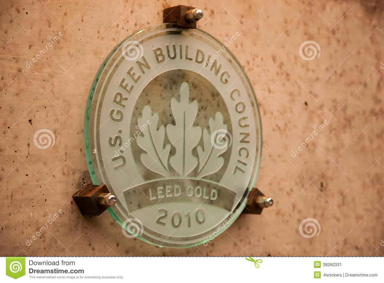 Leed Gold Building Plaque Stock Image Image Of Environment 38260331
